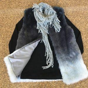 Zara Girls Ombre Faux Fur Vest
