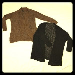 Cardigan bundle Large open pockets Grunge Knit M/L