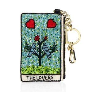 🆕 Alice & Olivia 'The Lovers' beaded card holder