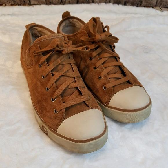e51fab8f9a6 UGG Evera Chestnut Shearling Sneaker