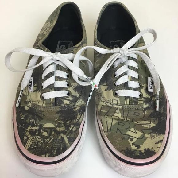 f0edc49b28f580 Vans Star Wars Boba Fett Camo Sneakers. M 59d8350fa88e7d9bc302eae7