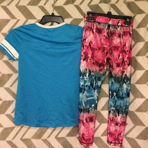 Justice Matching Sets - Girls Justice leggings and Shirt Set