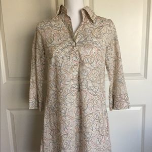 Brian Dales ribbon print short tunic dress size 42