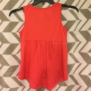 Shirts & Tops - Girls coral color with lace tank top