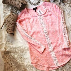 Jessica Simpson Sweater NWT Pink hi-low.