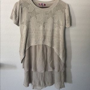 Dresses & Skirts - Beige dress with multiple layers