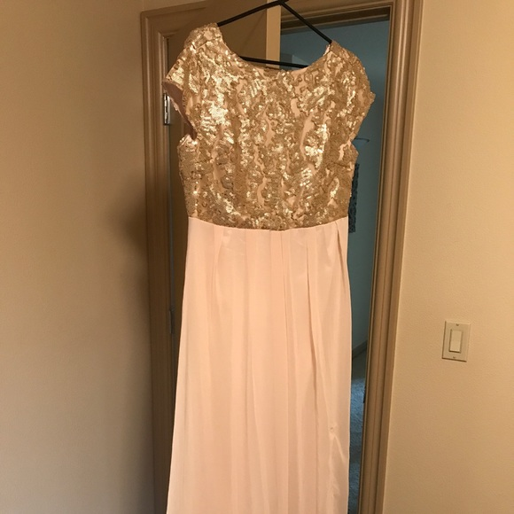 London Dress Company Dresses | Gold Sequin Gown Size 14 | Poshmark