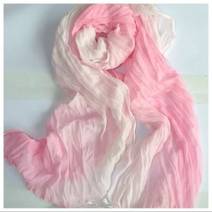 New Pink & White Scarf