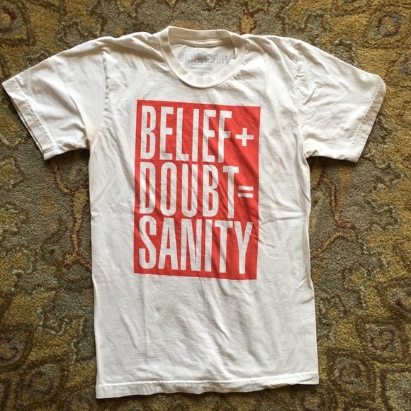 Barbara Kruger 'Belief + Doubt = Sanity' Sz Small