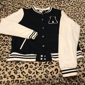 Super cute cotton letterman jacket