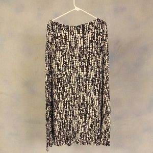 Dresses & Skirts - Black and white tiered long skirt