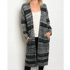 Sweaters - Fancy Long Knit Cardigan