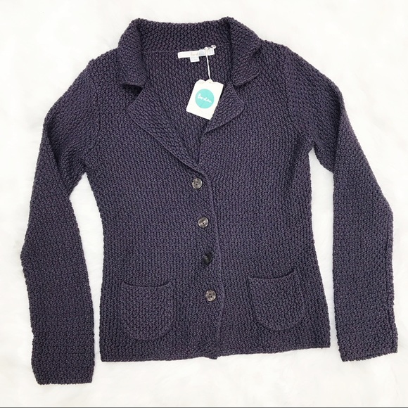 Boden Jackets & Blazers - Boden • Purple Knit Jacket