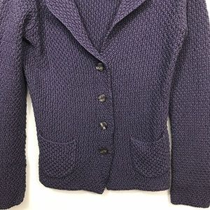 Boden Jackets & Coats - Boden • Purple Knit Jacket