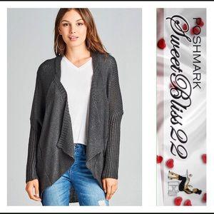 Sweaters - ✨Charcoal Grey Cardigan✨