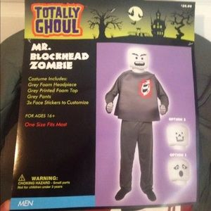 Mr Blockhead Zombie Costume