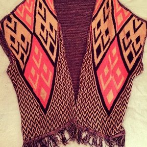 Over Sized Vest Cardigan with Fringe! Soft&Cute