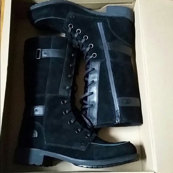 822451424 North face Bridgeton Lace Black Boots 9 NWT