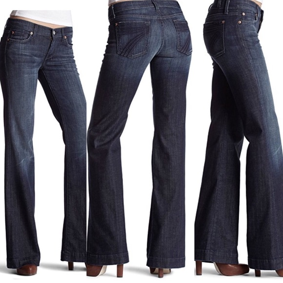 """Retail $189 NWT 7 For All Mankind /""""A Pocket/"""" Flare Leg Women/'s Jeans"""