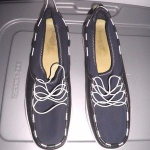 Navy/White Leather/Neoprene Timberland Deck Shoes