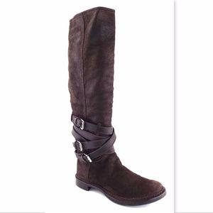 MIU MIU Soft Leather Knee High Strap Boots 40