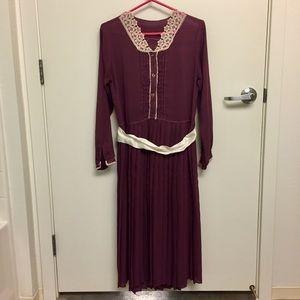 Vintage Lavender Victorian-Style Dress