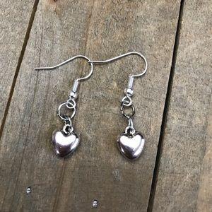 Jewelry - 3 for $25 Handmade Silver Heart Earrings