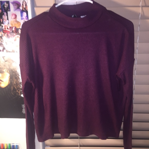 30% off H&M Sweaters - H&M | Purple Flowy Turtleneck Sweater from ...