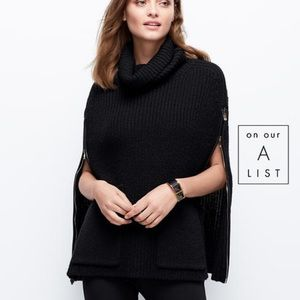 Ann Taylor Turtleneck Poncho Sweater