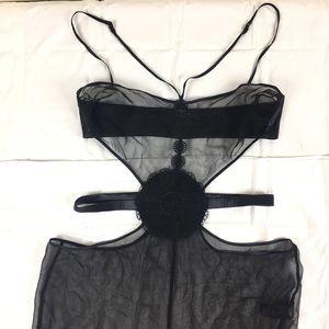 La Perla sexy Black Sheer & embroidered lingerie