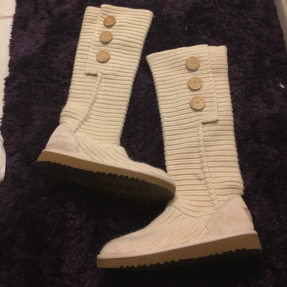 Ugg Shoes Knit Top Boots 7 Poshmark