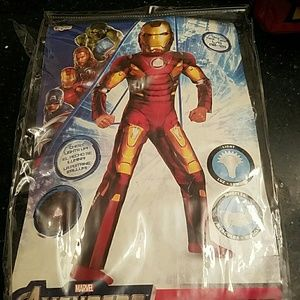 Iron man muscle costume with gloves and mask