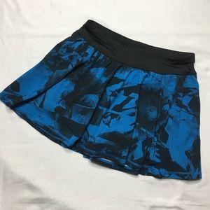 Lucy activewear Blue Floral skirt skort w/ pockets