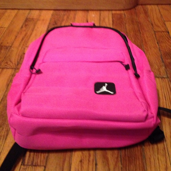 683a1008e031f2 Jordan VERY RARE pink hooded backpack