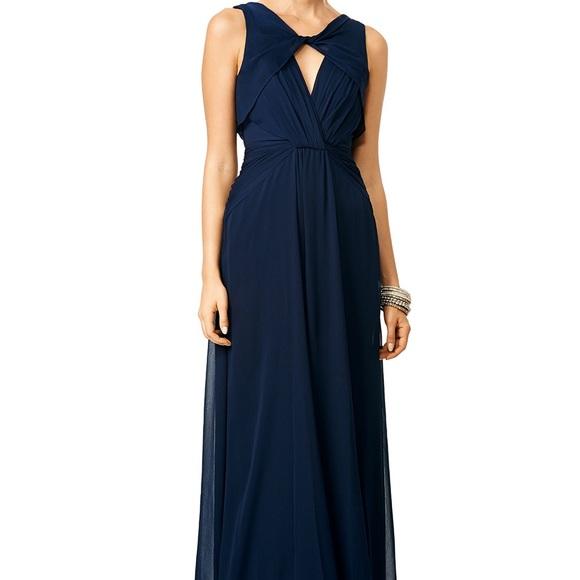 Badgley Mischka Dresses | Petunia Navy Gown | Poshmark