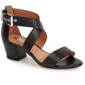 Halogen Rena cross cross Chunky black sandal