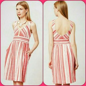 🆕Anthropologie ✨Candy Stripe Sun Dress