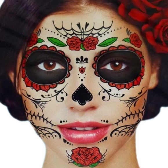 Makeup | Day Of The Dead Temporary Tattoo | Poshmark