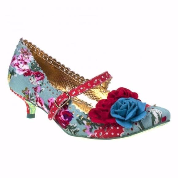 f8be4d2d30a Irregular Choice Shoes - Irregular Choice Shabby Chic Kitten Heels