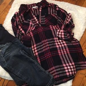 Flannel Maternity Shirt