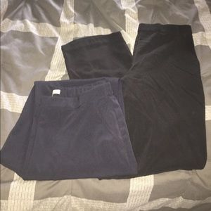 2 pair pull on dress pants