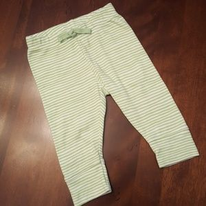 Adorable pin striped green and white leggings!