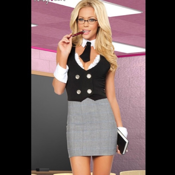 72577e24625 NEW Sexy Librarian Halloween Costume Small Medium