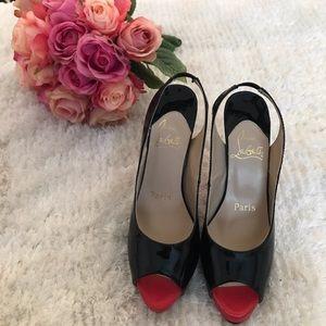 Shoes - Never worn! Christian Louboutin peeptoe heels