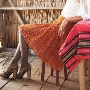 SALE! Moulinette Soeurs-Anthropologie Skirt Orange