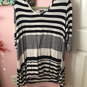 Tops - Striped Flowy Fall Top