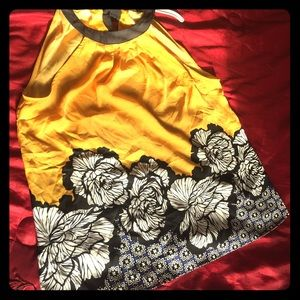 Worthington Nice Yellow Floral Cami Blouse GUC L