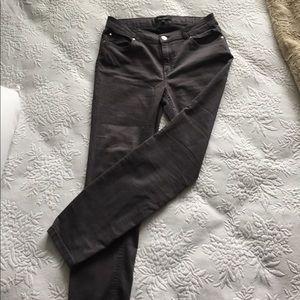 Ellen Tracy Skinny Jeans in Gray Size 8