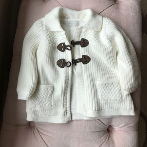 Other - Mayoral knitted Ivory sweater with brown buttons