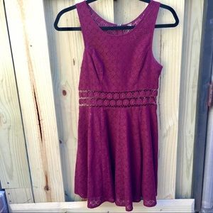 EUC Free People Burgundy Dress Size 0